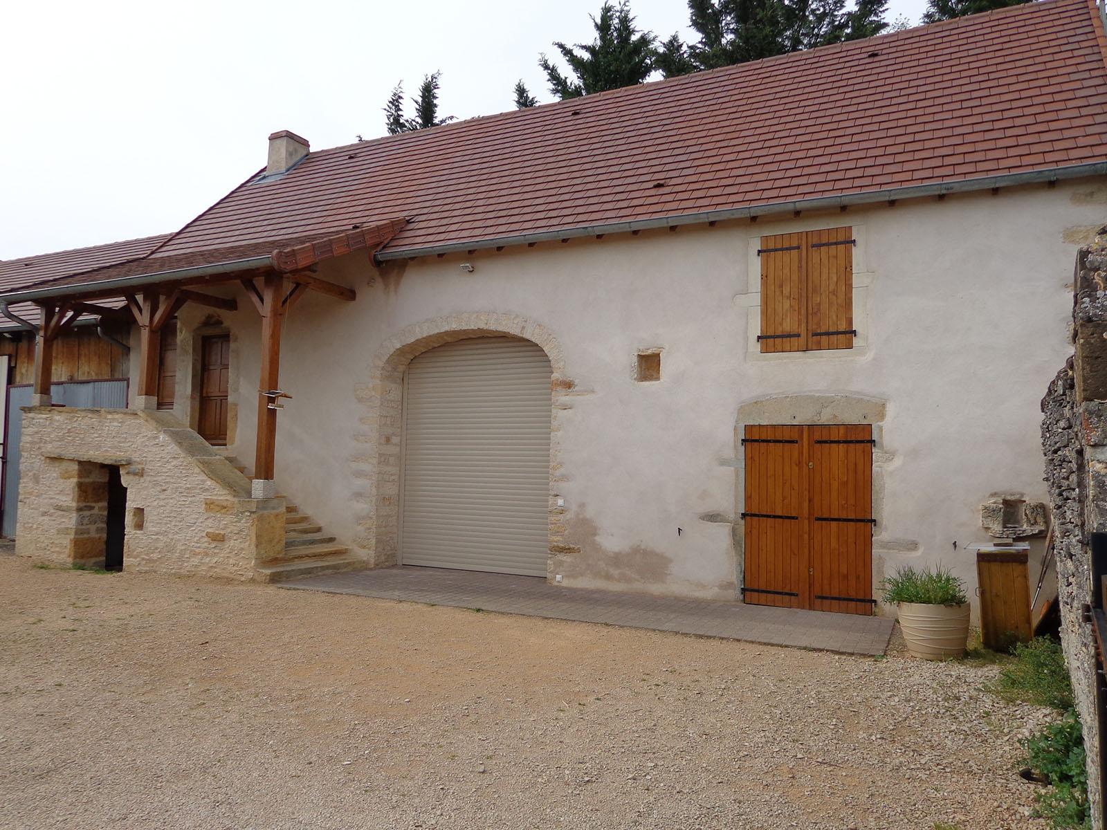 Rénovation grange façade toiture