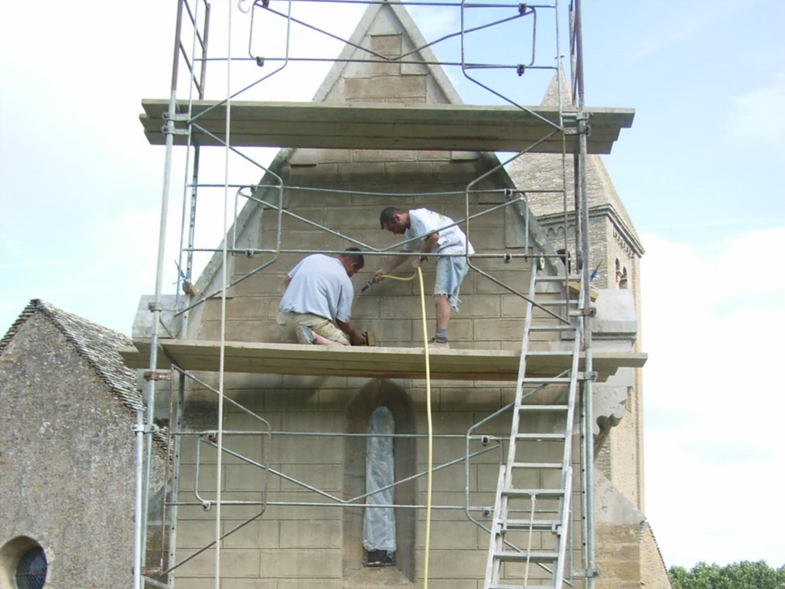 Échafaudage pour rénovation patrimoine